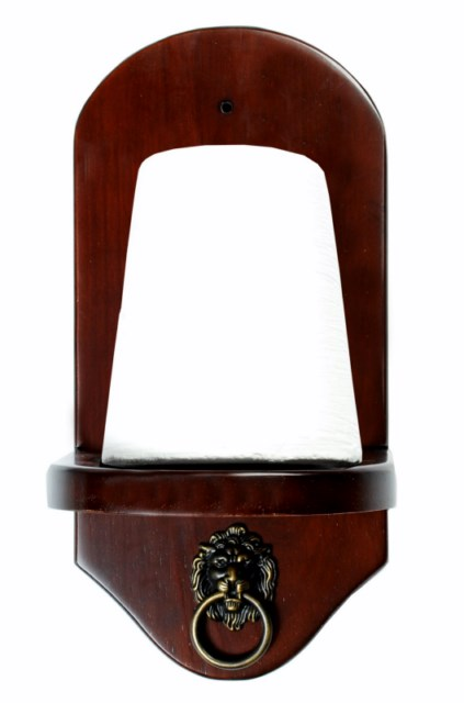 Wall Mount Pool Table Cone Chalk Holder Mahogany Finish With Chalk